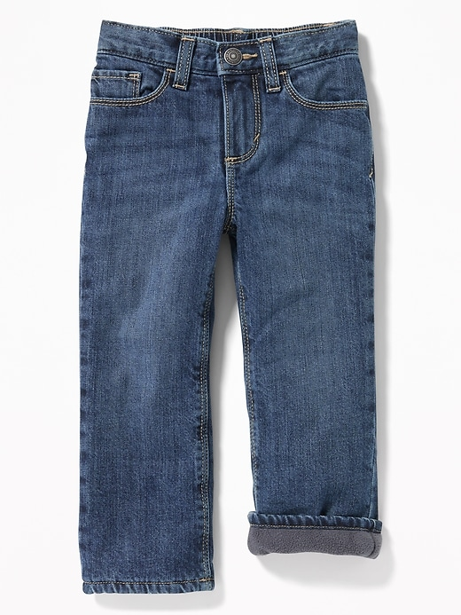 Micro Performance Fleece-Lined Straight Jeans for Toddler Boys