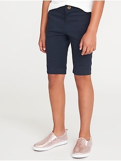 Skinny Uniform Bermudas for Girls