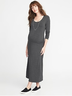 Maternity Scoop-Neck Jersey Maxi Dress