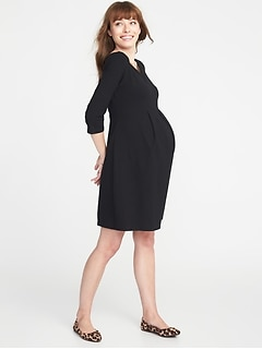 Maternity Jersey Fit & Flare Dress