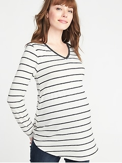Maternity Plush-Knit Waist-Defined Tunic