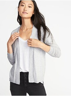 Short Open-Front Sweater for Women
