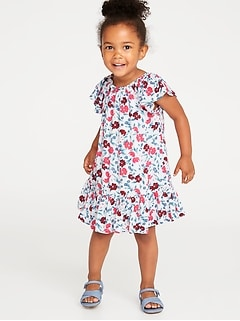 Crinkle-Gauze Ruffle-Hem Dress for Toddler Girls