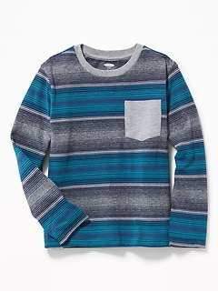 Striped Pocket Tee for Boys