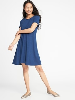 Plush-Knit Swing Dress for Women