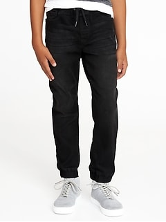 Built-In Flex Max Black Jogger Jeans for Boys