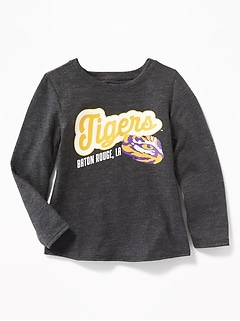 College-Team Graphic Tee for Toddler Girls