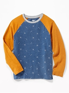 Softest Raglan-Sleeve Tee for Boys