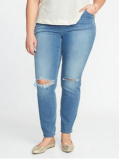 High-Rise Plus-Size Pull-On Rockstar Jeggings