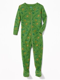 Bug-Print Footed Sleeper for Toddler Boys & Baby