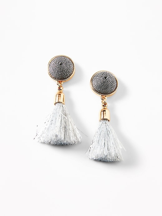 Domed Tassel Drop Earrings For Women by Old Navy