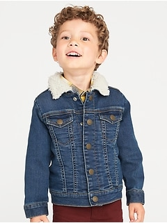 Sherpa-Lined Trucker Jacket for Toddler Boys