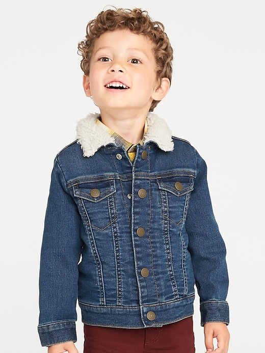 Sherpa Lined Trucker Jacket For Toddler Boys by Old Navy