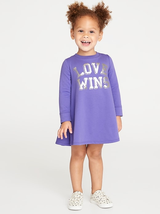 Graphic French-Terry Circle Dress for Toddler Girls
