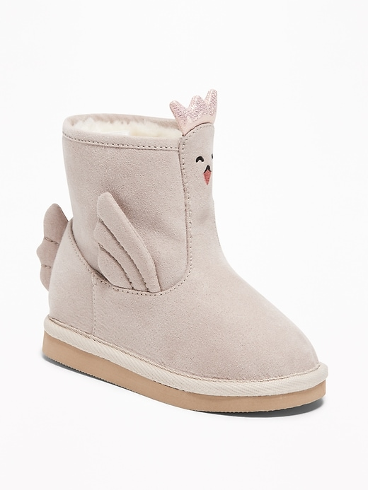 Faux-Suede Critter Adoraboots For Toddler Girls