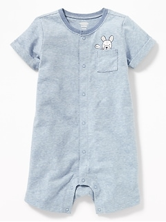 Graphic Snap-Front One-Piece for Baby