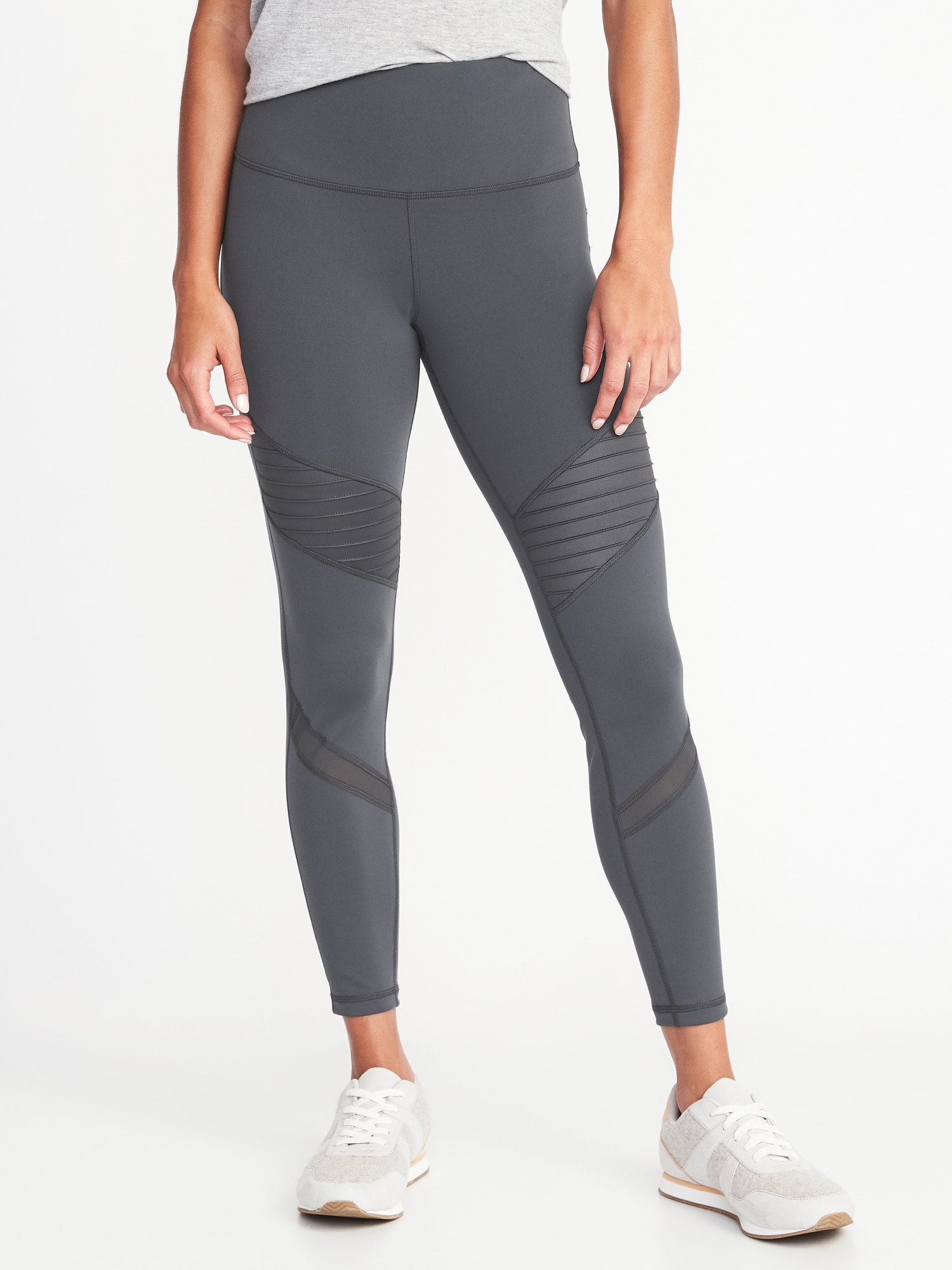 50018b8409 High-Rise 7/8-Length Moto Compression Street Leggings for Women | Old Navy
