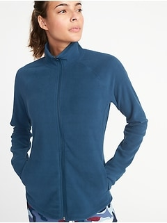 Semi-Fitted Full-Zip Performance Fleece Jacket for Women