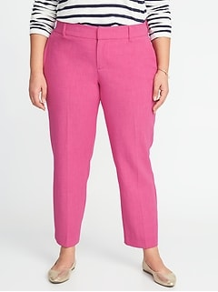 Mid-Rise Secret-Slim Pockets + Waistband Plus-Size Harper Pants