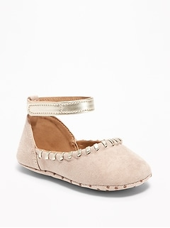 Faux-Suede Whipstitched Ballet Flats for Baby