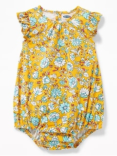 Flutter-Sleeve Bubble Romper for Baby