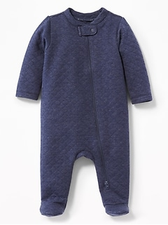Quilted Footed One-Piece for Baby