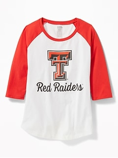 College-Team 3/4-Length Sleeve Tee for Girls
