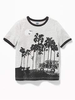 Scenic-Graphic Ringer Tee for Toddler Boys