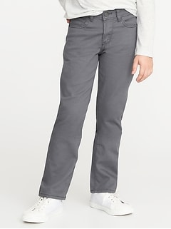 Straight Five-Pocket Twill Pants for Boys