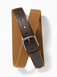 Stretch-Canvas Belt for Men