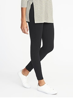 Jersey Elastic-Waist Leggings for Women
