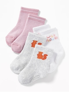 3-Pack Crew Socks for Baby