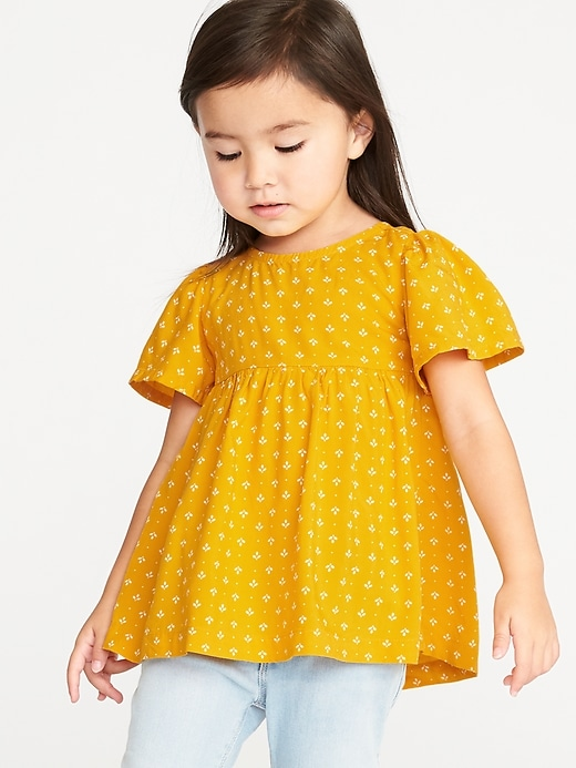 Flutter Sleeve Tunic For Toddler Girls by Old Navy