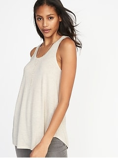Sparkle-Knit Luxe Swing Tank for Women