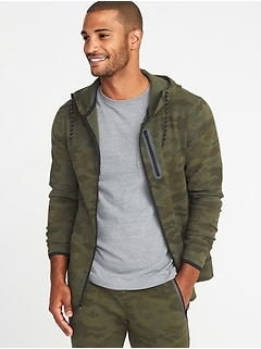 Camo Dynamic Fleece 4-Way Stretch Zip Hoodie for Men