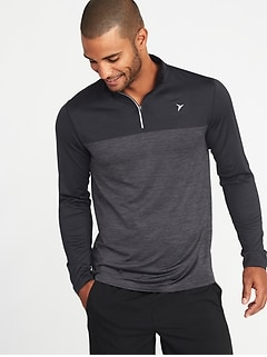 Color-Blocked Go-Dry 1/4-Zip Pullover for Men