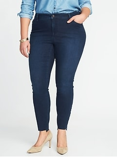 High-Rise Secret-Slim Pockets Plus-Size Step-Hem Rockstar Jeans