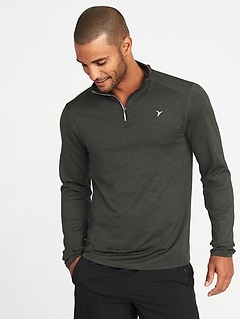 Go-Dry 1/4-Zip Built-In Flex Pullover for Men
