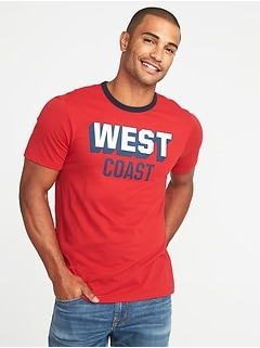 """West Coast"" Graphic Tee for Men"