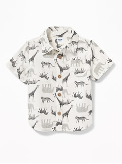 Safari Animal-Print Shirt for Baby