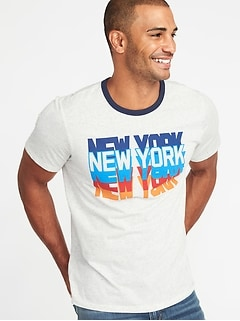 """New York"" Graphic Tee for Men"