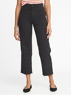 High-Rise Wide-Leg Released-Hem Jeans for Women