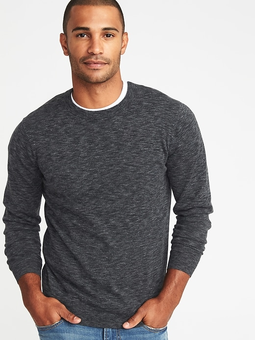 Heathered Crew Neck Sweater For Men by Old Navy