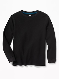 Solid Thermal Crew-Neck Tee for Boys