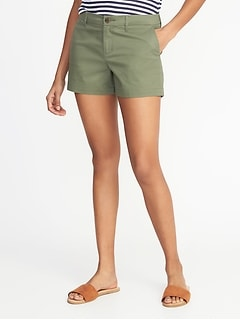 Relaxed Mid-Rise Everyday Shorts For Women - 3.5 inch inseam