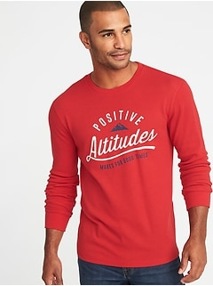 Graphic Built-In Flex Thermal-Knit Tee for Men