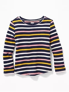 Printed Thermal-Knit Tee for Toddler Girls