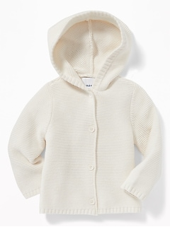 Hooded Textured-Knit Cardigan for Baby