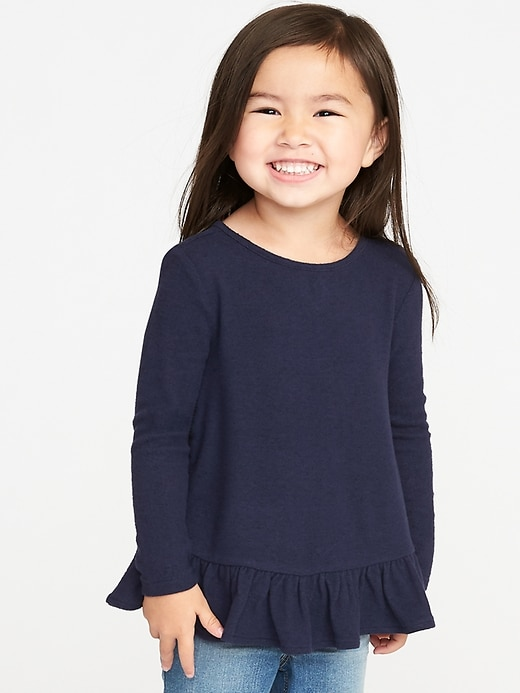 Cozy Ruffle Hem A Line Sweater by Old Navy