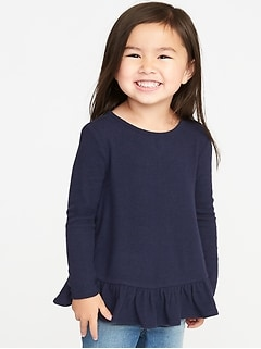 Cozy Ruffle-Hem A-Line Sweater